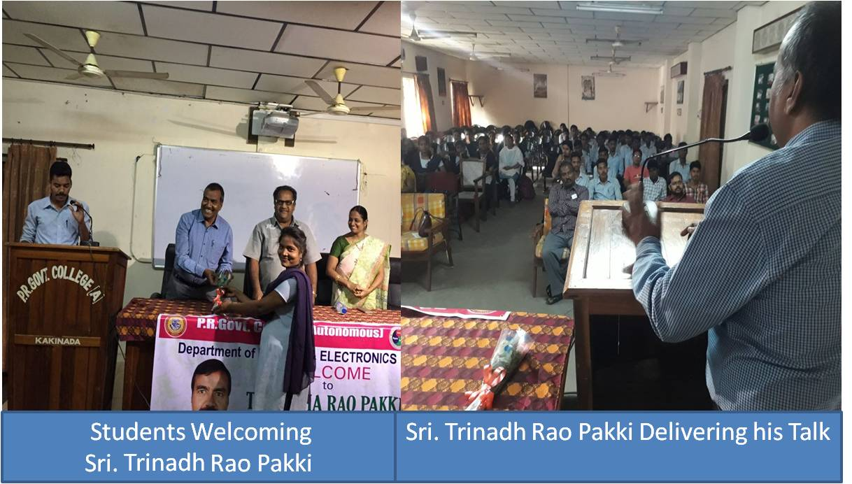 Guest Lecture 2/2/2018 by Sri. Trinadha Rao Pakki,  IMD, Hyd
