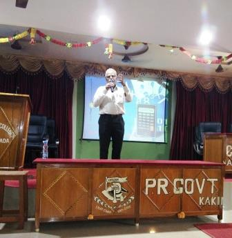 Guest Lecture on Applications of Group Theory by Dr. K.V. Anandam, Principal, MVN JS & RVR College, Malikipuram, E.G.Dt.