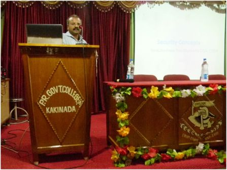 ": Guest Lecture on ""Awareness on Information Security"" (December, 2015)"