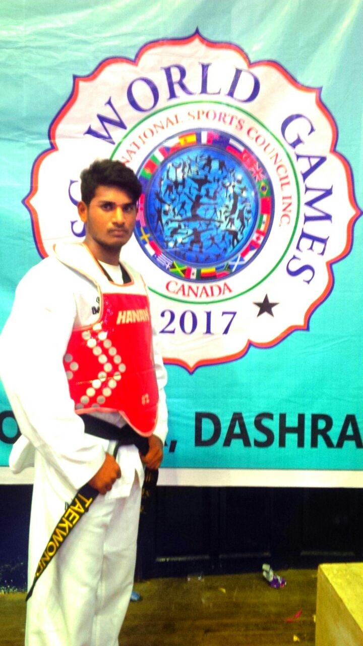 INTERNATIONAL TAEKWONDO BRONZE MEDAL Y. MOULI CHAND