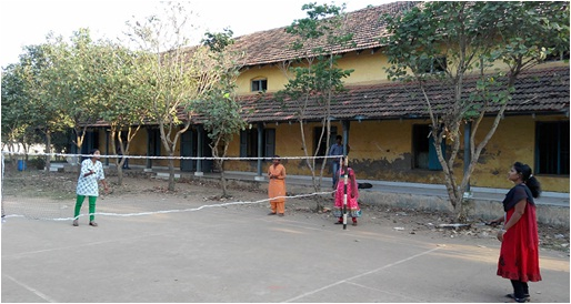 Ball Badminton Court