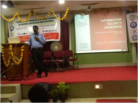 "Sri. M. Kumar from C-DAC Delivering a Lecture on ""Digi Locker and E Content for M Learning and Mobile based Educational Labs"" on 8-10-2015"